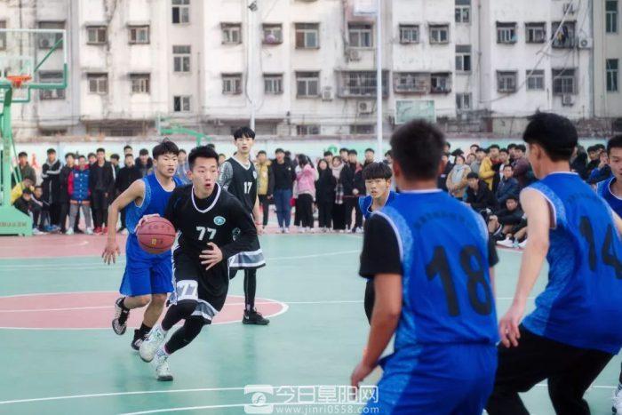 阜南中学生篮球锦标赛开赛